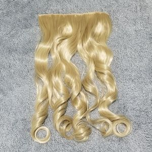 """Long Blonde Extension Clip In 24"""" Synthetic Hair"""